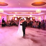 dreamy dance floor at event center at blue lehigh valley wedding venue