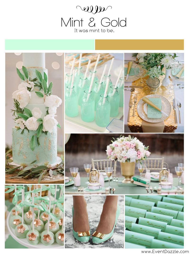 Mint Green and Gold Wedding Theme  Dream Weddings Start Here
