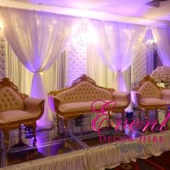 Wedding Sofa Dark Gray Table Gold Luxury