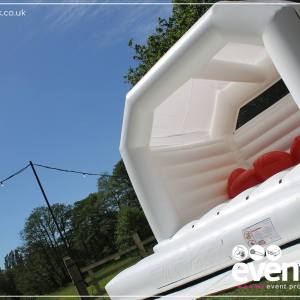 White Wedding Bouncy Castle