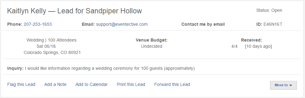 Event Header