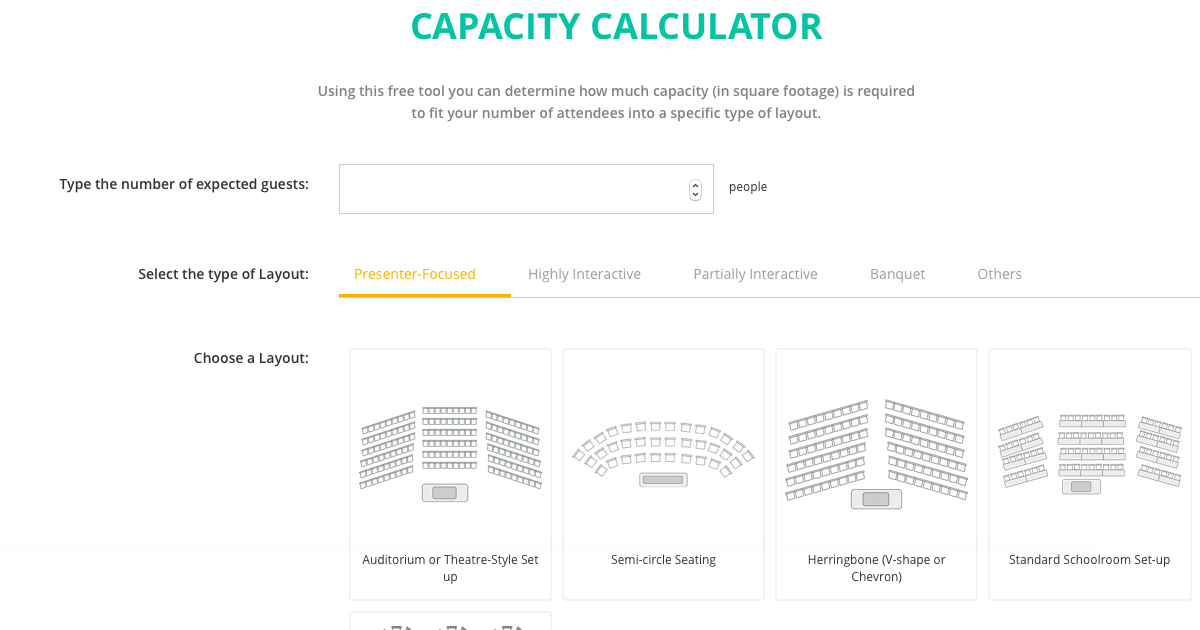 #1 Free Event and Meeting Layout Calculator