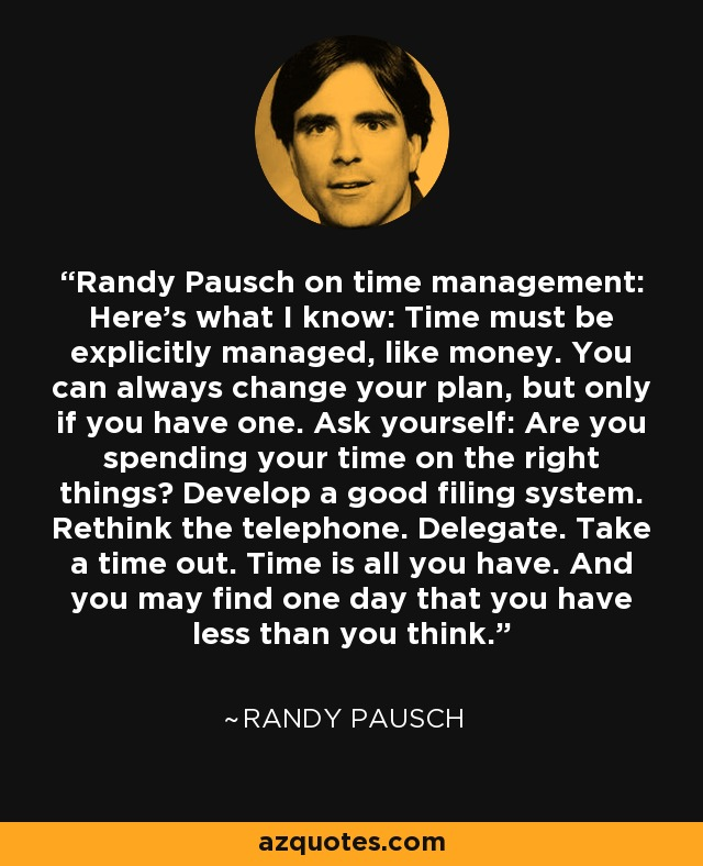 have a plan randy pausch