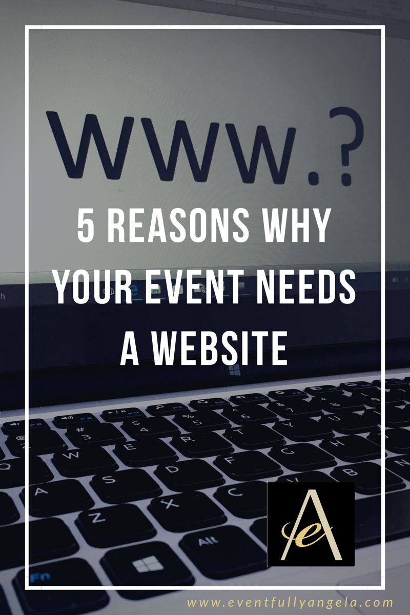 5 Reasons Why Your Event Needs a Website