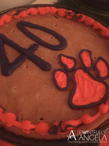 clemson cookie cake