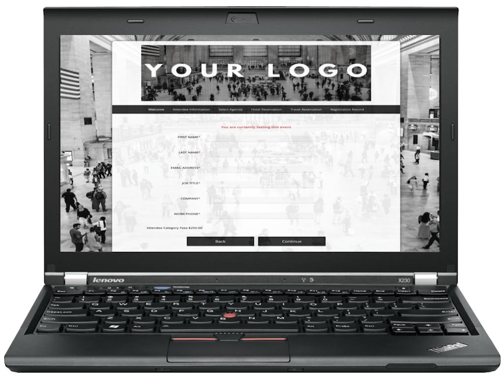 Custom onbrand event website