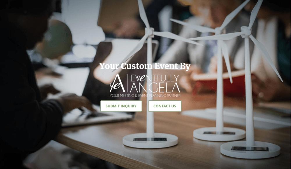 Event registration sample website