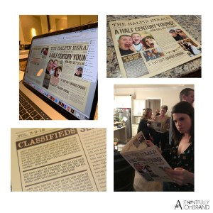 Custom Personalized Birthday Newspaper