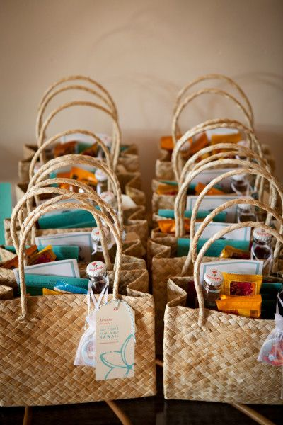 Welcome Bags Baskets Boxes Cards for Wedding Guests  The Event Group Weddings