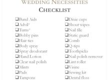 The Wedding Checklist Every Bride and Bridesmaid Needs ...