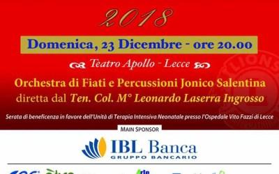 All'Apollo di Lecce il Concerto di Natale 2018