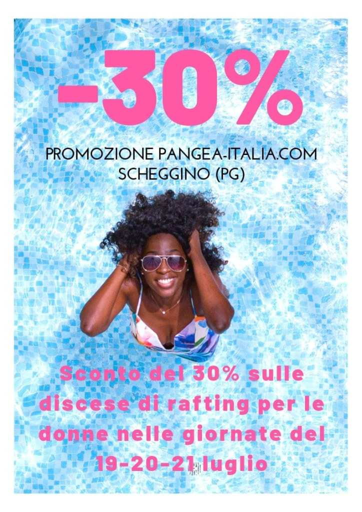 sport per donne, rafting in umbria con sconto