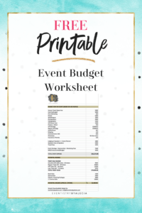 How to Set a Budget for your Event (with Free Downlaod)