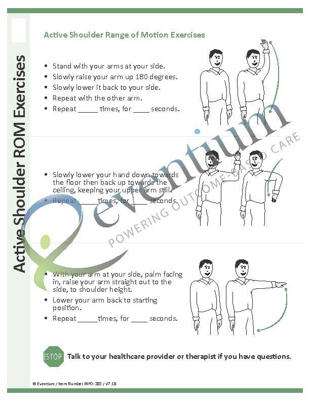 Active Shoulder ROM Exercises | Eventium