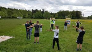 Bogenschießen-als-Kindergeburtstags-event Kindergeburtstag in der Eventmeile1