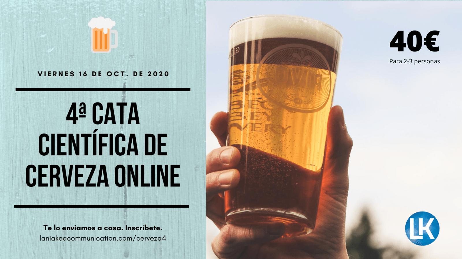 Cata científica de cervezas 16 octubre 2020