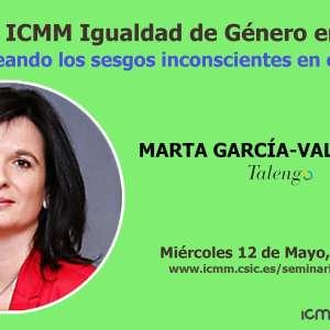 WEBINARS ICMM Igualdad de Género en Ciencia
