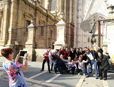 Gymkhana por Sevilla con tablets