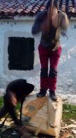 Cortador de troncos en una Finca en Segovia _2