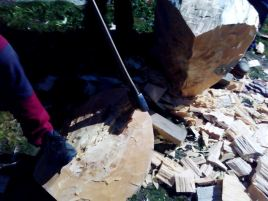 Cortador de troncos en una Finca en Segovia _9