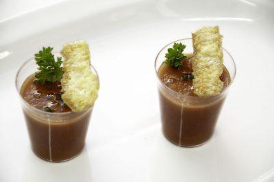 Gazpacho con Pan Crocante