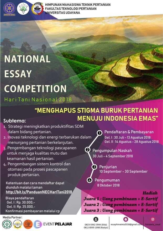 National Essay Competition 2018 UNUD