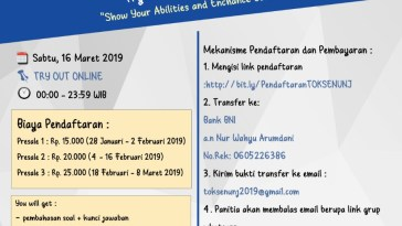 TOKSEN Try Out SBMPTN KSE UNJ 2019