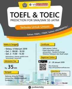 TOEFL/TOEIC Prediction Se-jatim