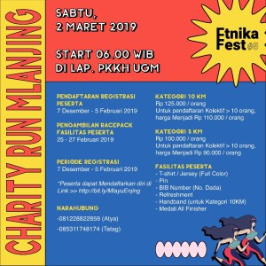 Charity Run Mlanjing Etnika Fest 2019