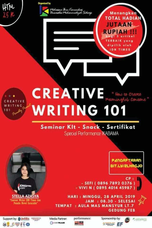 seminar dan workshop Creative Writing 101