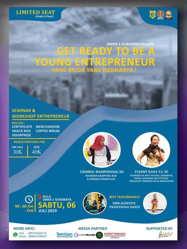 Seminar & Workshop Young Enterpreneur SMKN 1 Surabaya
