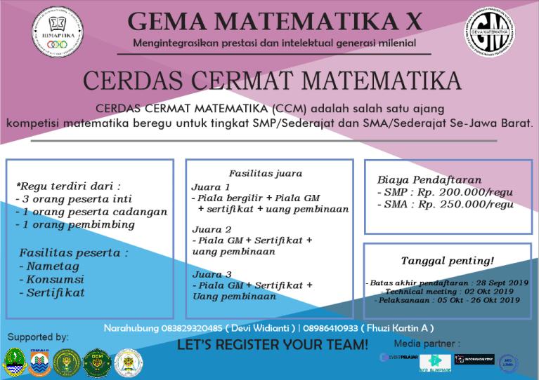 GEMA Matematika X Tingkat SMP/Sederajat dan SMA/Sederajat