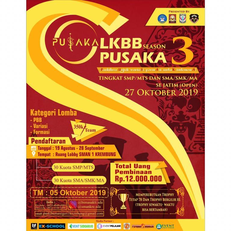 LKBB PUSAKA Season 3 2019 Tingkat SMP dan SMA