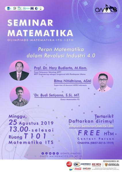 Seminar Matematika Menuju Revolusi 4.0