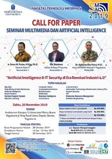 Call for Paper - Seminar Multimedia Artficial Intelligence 2019