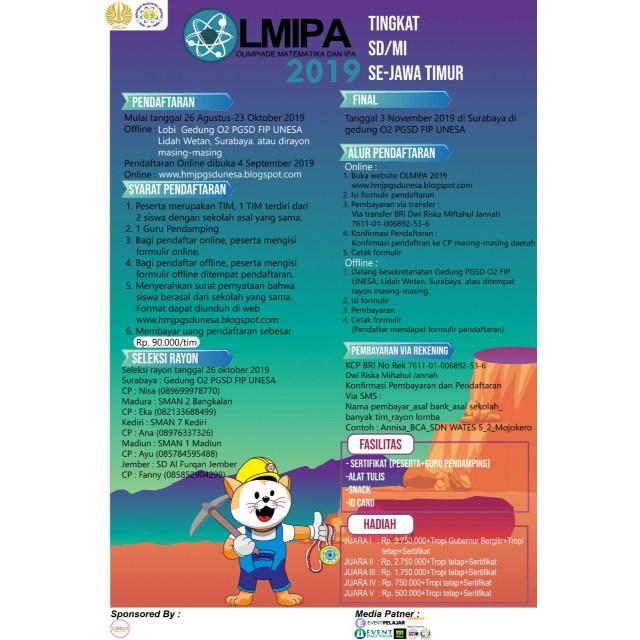 Olimpiade Matematika dan ipa tingkat SD/MI Se-Jawa Timur