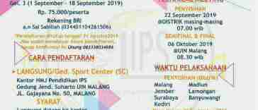 Olimpiade IPS Se-Jawa Timur Tingkat SMP/MTS Sederajat 2019