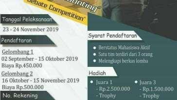 National Accounting Seminar and Debate Competition NASTEC Season 1