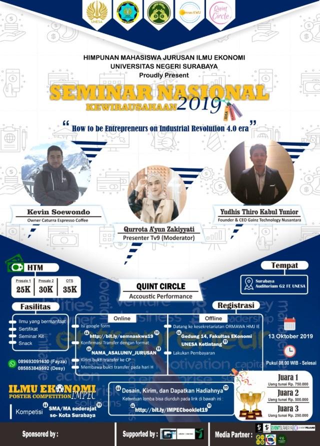 Seminar Nasional Kewirausahaan 2019 & Ilmu Ekonomi Poster Competition