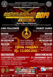Ahmad Dahlan Robotic Competition 2019
