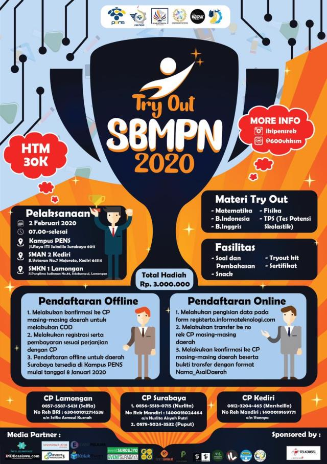 Try Out SBMPN 2020 PENS