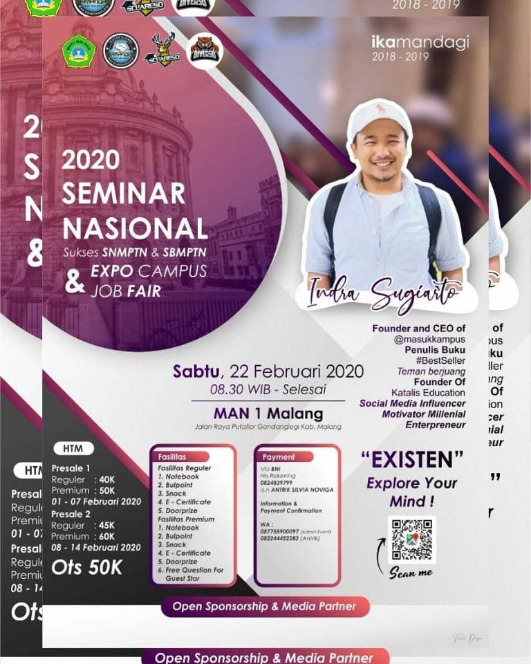 Seminar Nasional, Expo Campusdan Job Fair bareng Kak Indra Sugiarto