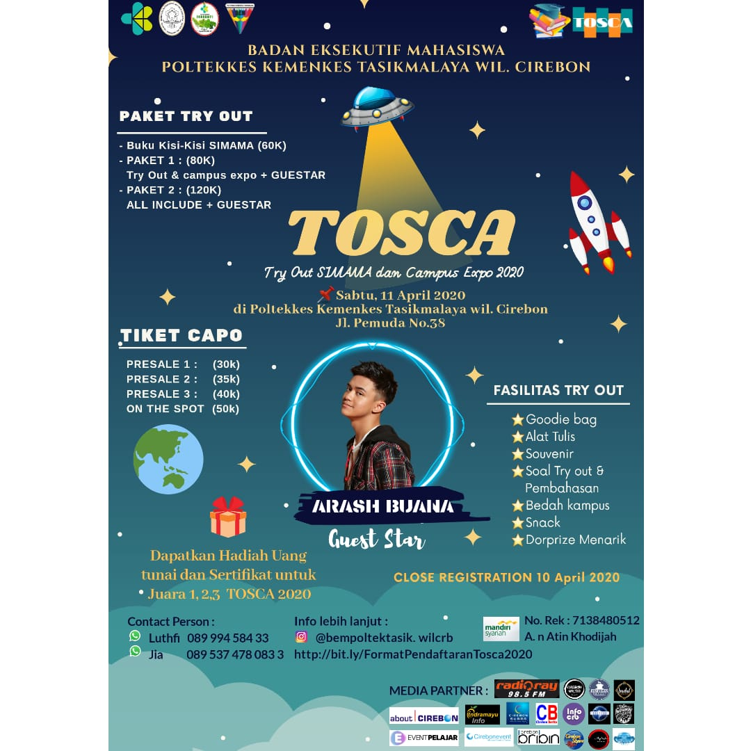 TRY OUT SIMAMA & CAMPUS EXPO (TOSCA) 2020
