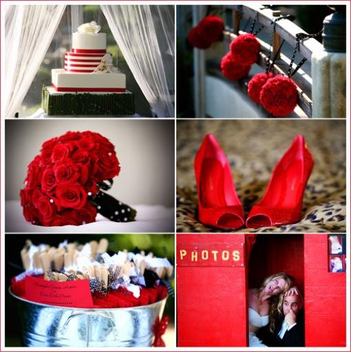 black and red weddings  Event ProsLA Blog
