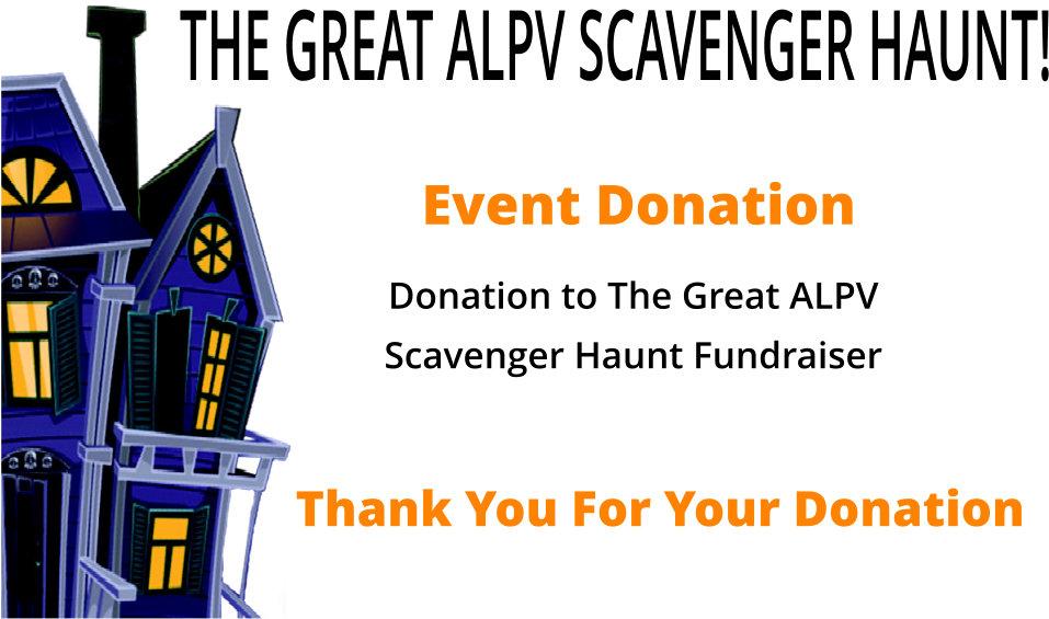 Scavenger Haunt Donation