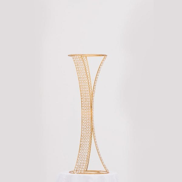 Crystal Flower Stand Gold