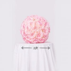 Blush Rose Ball Dimensions