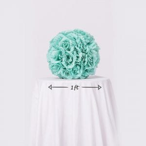 Turquoise Rose Ball Dimensions