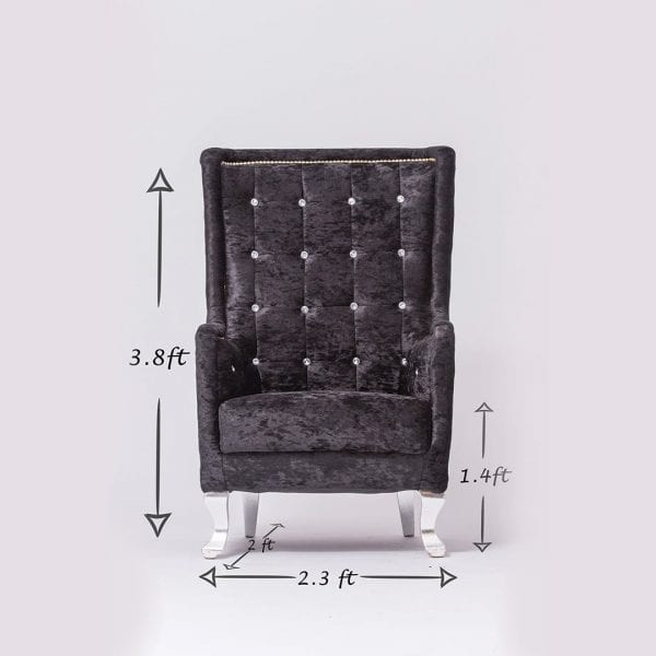 Black Tufted Chair