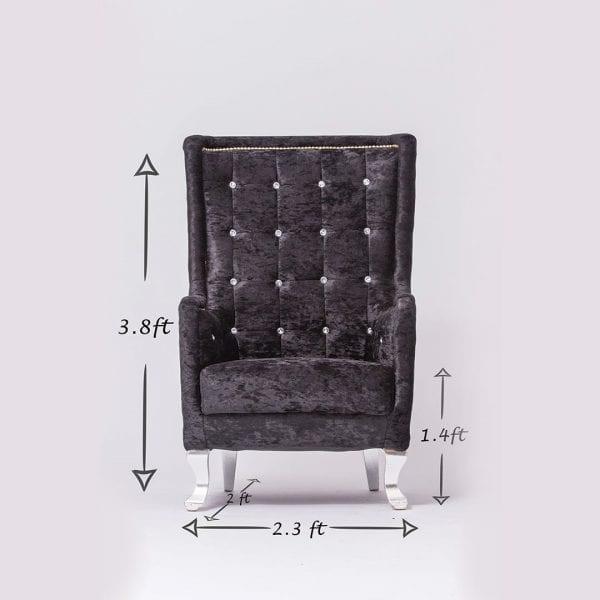 Black Tufted Chair